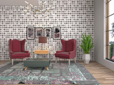 interior with chair. 3d illustration - 248792449