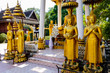 Quadro buddha statue in thai temple in thailand, digital photo picture as a background
