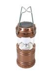 Solar cell  LED lantern lamp isolated on white background - 248803412