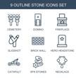 9 stone icons