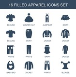 16 apparel icons
