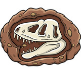 Cartoon head dinosaur fossil - 248808875