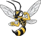 Cartoon Hornet mascot - 248809010
