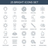 25 bright icons - 248809822