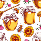 seamless honey background