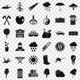 Tree icons set. Simple style of 36 tree vector icons for web for any design - 248816087