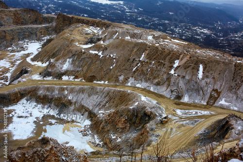 Limestone quarry, bird eye view