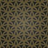 Seamless vector ornament. Modern black and golden background. Geometric modern pattern - 248822880