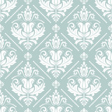 Orient vector classic pattern. Seamless abstract background with vintage elements. Orient background. Light blue and white ornament for wallpaper and packaging - 248823868