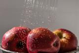 Washing of apples.