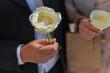 Matrimonio - Riso - Lancio del riso - Dettaglio - Mano