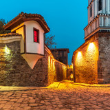 Plovdiv city - The oldest living city in Europe - European capital of culture 2019. View from Old town district. Bulgaria . Ancient Plovdiv is UNESCO's World Heritage.