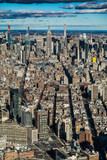 New York City, Manhattan - aerial view from south Manhattan to the north, to Midtown Manhattan - 248832674