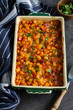 The perfect winter comfort food with rich flavours made from corn, cheese and bacon - 248833025