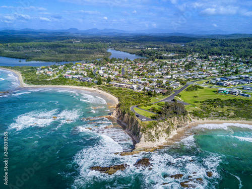 Foto Murales Tomakin aerial views of beaches and escarpment