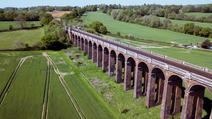 Old train bridge viaduct in Great Britain UK © omar