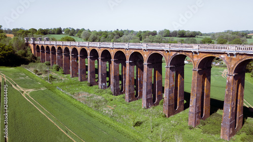 Ouse Valley Viaduct Train Bridge in the UK