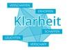 Klarheit - Begriffe verbinden, Farbe blau