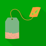 Isolated object of sachet  and tea sign. Collection of sachet  and drink vector icon for stock.