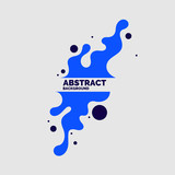 Abstract background with dynamic linear waves. Vector illustration - 248855292
