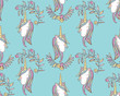 Unicorn Rainbow seamless pattern - girls scrapbook paper. Perfect for wrapping presents, scrapbook pages, cards, party decorations, book/journal cover, product design, apparel, planners, invitations - 248855465