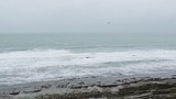 view of the waves of the ocean in bad weather - 248868011
