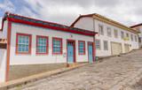 Casarios da cidade histórica de Diamantina, estado de Minas Gerais, Brasil. - 248868667