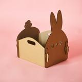 The cardboard Easter background. Cardboard Easter Decoration.