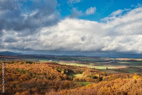 Foto Murales Aussicht im Herbst vom Georgenberg in Bad Rodach nach Thüringenn