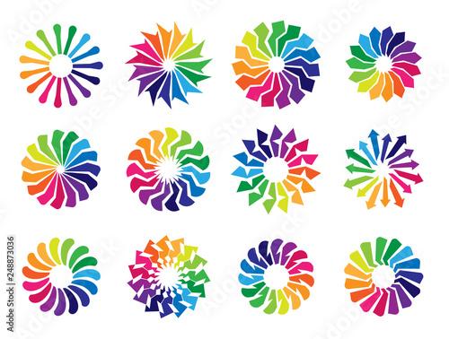 Collection of Circular Logos - 248873036
