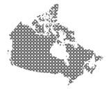 Karte von Kanada in Kreisen