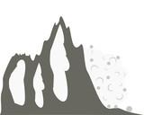 Schneelawine am Berghang - 248879641