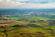 Aerial view of the farmland in the Palouse region of Eastern Washington state, USA