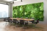 3d render of a Vertical green wall in modern meeting room - 248887837