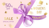 8 march sale design template. Happy womens day. Vector illustration
