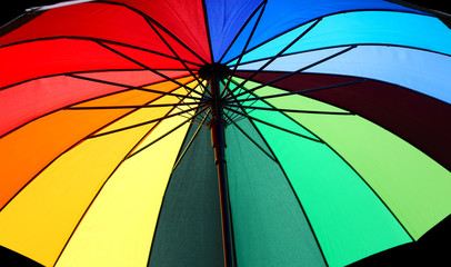 colorful open umbrella with colors © ChiccoDodiFC