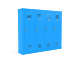 Blue lockers. 3d rendering illustration isolated on white background - 248895236