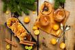 Leinwanddruck Bild - Homemade orange jam.