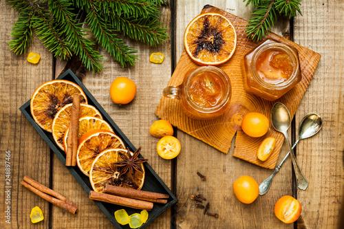Leinwanddruck Bild Homemade orange jam.