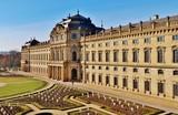 Würzburg, Residenz, von Osten, Gartenfassade