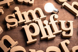 Simplify Wood Word - 248910054