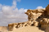 Fantastic rock formations in Negev desert, Israel