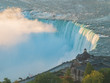 Aerial sunrise view of the Table Rock Welcome Centre of the beautiful Horseshoe Falls