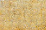 Beige and orange mosaic wall background texture - 248919818