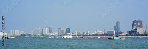 A view of the tourist port of Pattaya, Thailand - 248921897