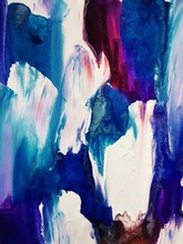 "Постер, картина, фотообои ""unusual blue red white abstraction with acrylics on canvas. modern Art. beautiful background"""
