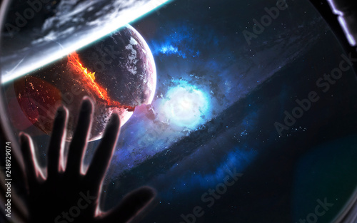 Supernova star explosion. Black hole. Wormhole. Science fiction art. Elements of this image furnished by NASA