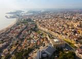 Aerial view of the Mediterranean coast of Tarragona. Spain