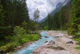 Fluss ( Partnach ) in den Alpen Süddeutschlands