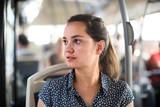 passenger taking bus journey - 248936625